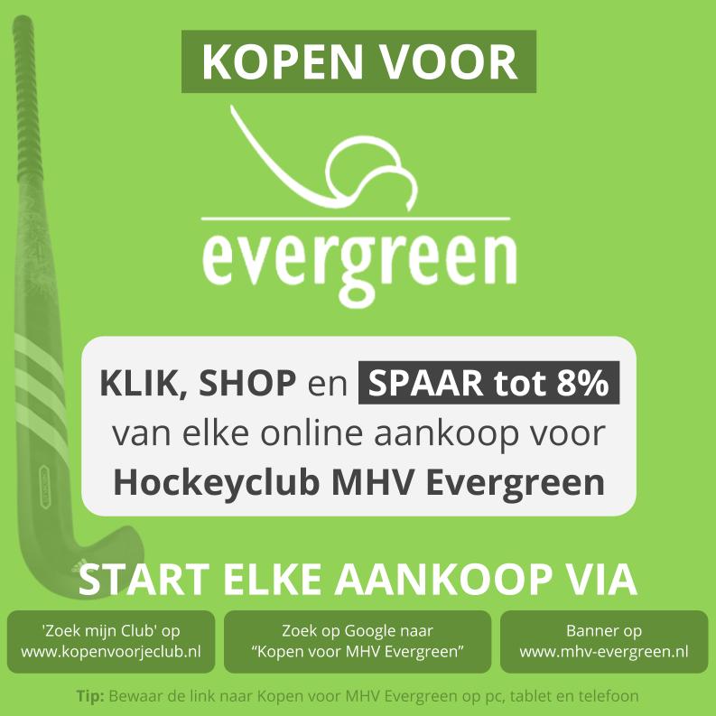 Kopen voor MHV Evergreen promo vierkant